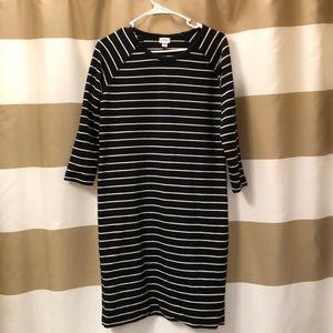 3/4 Sleeve Striped Dress